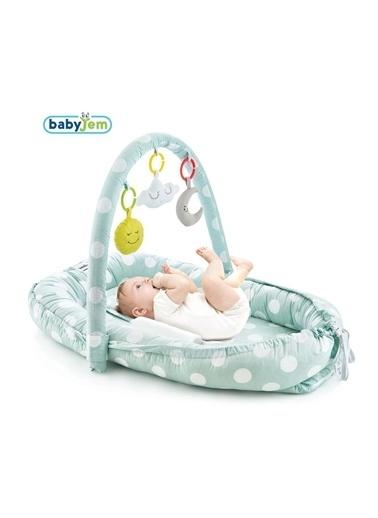 Baby Jem Oyuncaklı Anne Baba Yanı Yatağı Gri